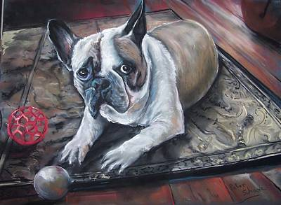 Pastel - french Bull dog by Peter Suhocke