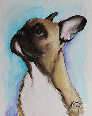 French Bull Dog Wall Art - Painting - French Bull Dog Puppy  by Jindra Noewi