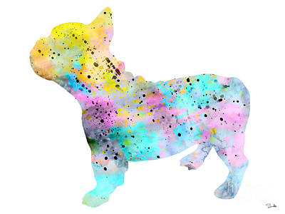 Painting - French Bulldog 4 by Watercolor Girl
