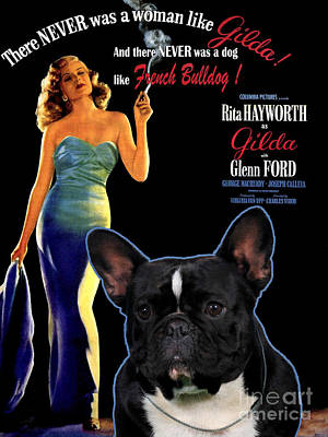 Painting - French Bulldog Art - Gilda Movie Poster by Sandra Sij