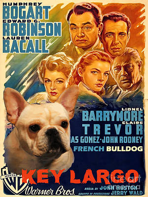 Painting - French Bulldog Art - Key Largo Movie Poster by Sandra Sij