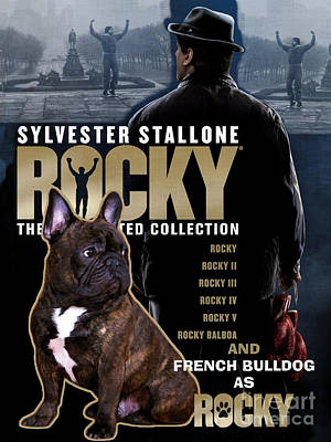 Nobility Dogs Painting - French Bulldog Art - Rocky Movie Poster by Sandra Sij