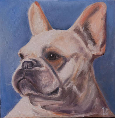French Bull Dog Wall Art - Painting - French Bulldog by Bobbie Deuell