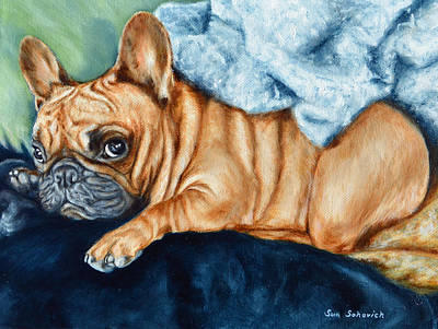French Bulldog I Am Cute But Leave Me Alone Look Art Print by Sun Sohovich