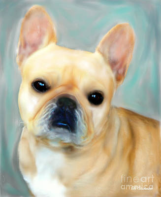 French Bulldog Mystique D'or Art Print by Barbara Chichester