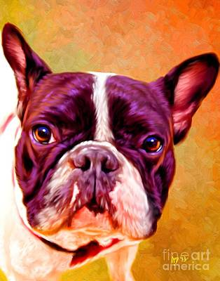 French Bulldog Gifts Painting - French Bulldog Pet Art by Iain McDonald