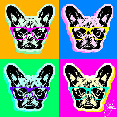 Digital Art - French Bulldog Pop Art by Steve Will