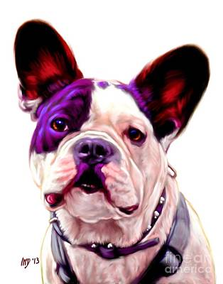 French Bulldog Gifts Painting - French Bulldog Portrait by Iain McDonald