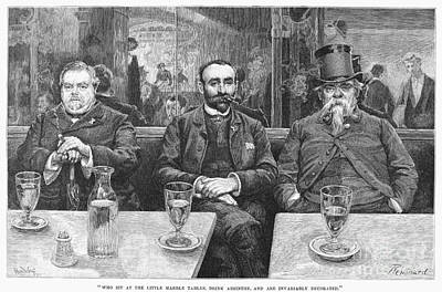 French CafÉ, 19th Century Print by Granger