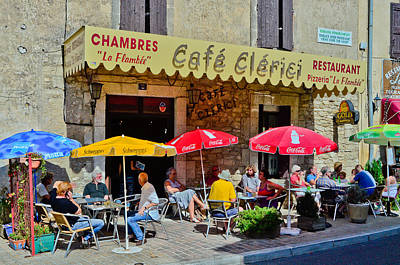 French Cafe At Bonnieux Provence Original by Jeff Black