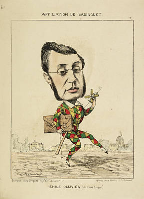 Caricature Photograph - French Caricature - Emile Ollivier by British Library