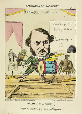French Caricature - Fialin Print by British Library