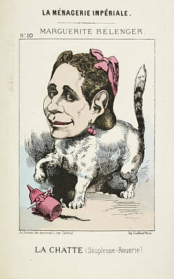 Caricature Photograph - French Caricature - La Chatte by British Library
