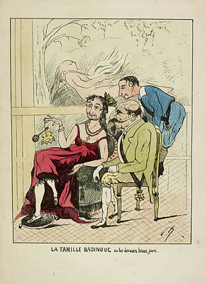 French Caricature - La Famille Badingue Print by British Library