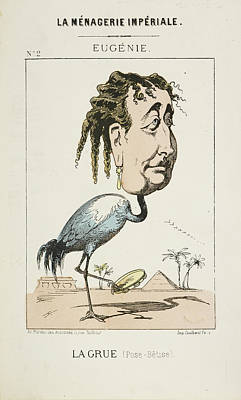 Caricature Photograph - French Caricature - La Grue by British Library