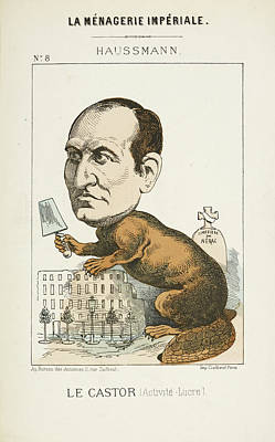 Caricature Photograph - French Caricature - Le Castor by British Library
