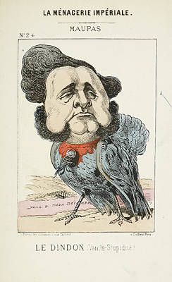 French Caricature - Le Dindon Print by British Library