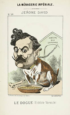 Caricature Photograph - French Caricature - Le Dougue by British Library