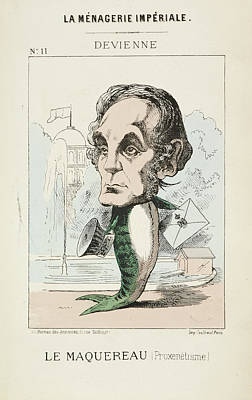 Caricatures Photograph - French Caricature - Le Maquereau by British Library