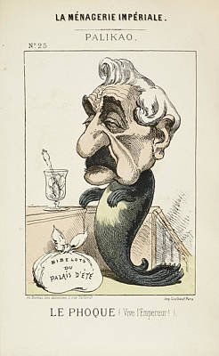 Caricature Photograph - French Caricature - Le Phoque by British Library