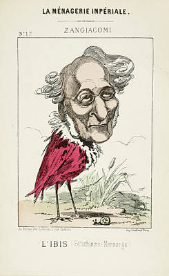 Caricature Photograph - French Caricature - L'ibis by British Library