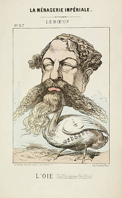 Pour Photograph - French Caricature - L'oie by British Library