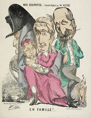 French Caricature - Nos Despotes Print by British Library