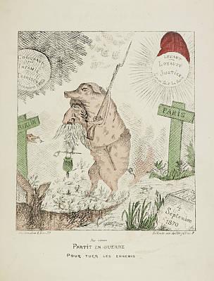 Pour Photograph - French Caricature - Partit En Guerre by British Library