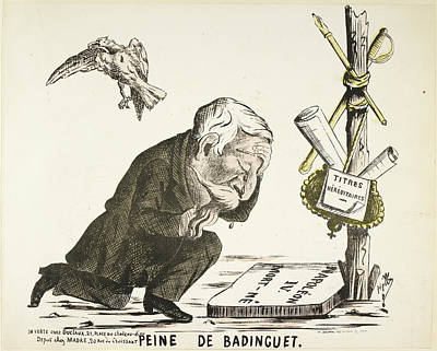 Caricature Photograph - French Caricature - Peine De Badinguet by British Library
