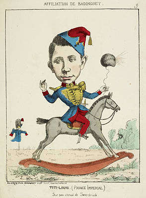 Caricature Photograph - French Caricature - Titi-louis by British Library