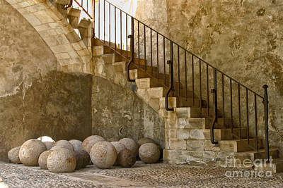 Collioure Photograph - French Castle Marbles by Kate McKenna