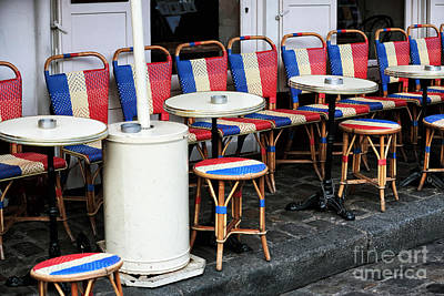 Photograph - French Chairs In Montmartre by John Rizzuto