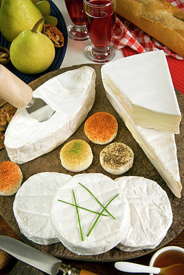 French Cheeses, France Art Print