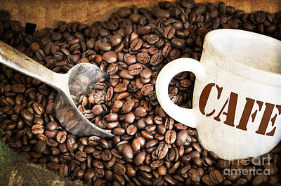 French Coffee Print by Delphimages Photo Creations