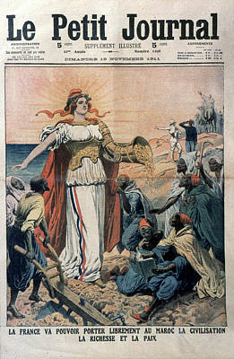 French Colonialism, 1911 Art Print