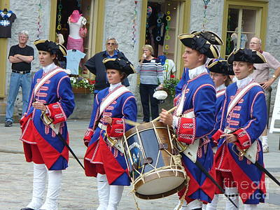 Marching Band Photograph - French Costume Performers At Place Royale by Lingfai Leung