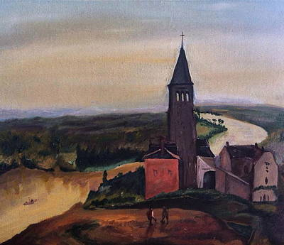 Jessica Sanders Painting - French Countryside by Jessica Sanders