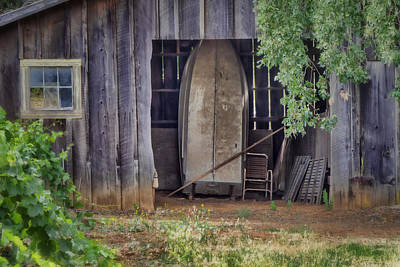 Countryside Barn Print by Joan Carroll