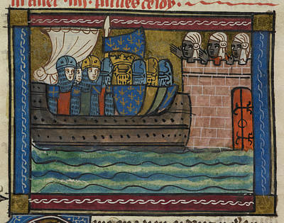 Personalities Photograph - French Crusader Ship by British Library