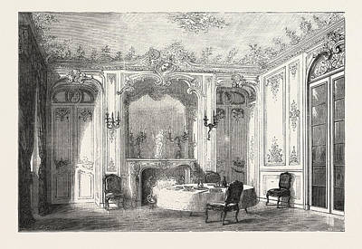 Louis Xv Drawing - French Dining Room In Louis Xv. Style by English School