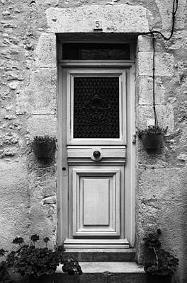 French Door In Mono Art Print by Georgia Fowler