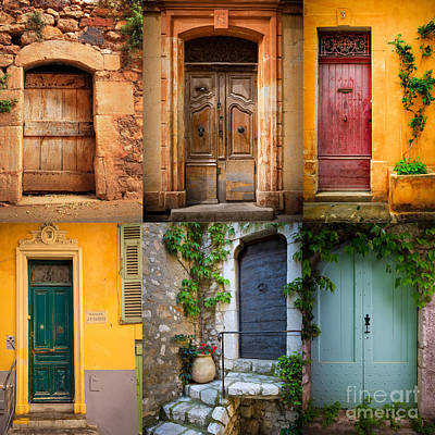 Old Door Photograph - French Doors by Inge Johnsson