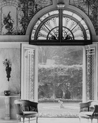 Stained Photograph - French Doors Leading To A Garden by Matsy Wynn Richards