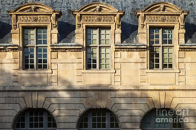 Photograph - French Dormers - Paris by Brian Jannsen