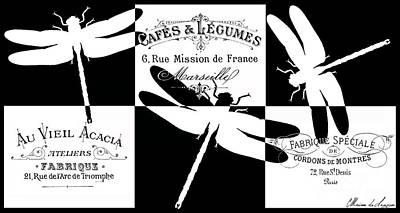 French Dragonflies 3 Art Print