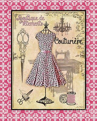 French Dress Shop-a1 Original by Jean Plout