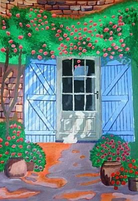 Art Print featuring the painting French Farm Yard by Magdalena Frohnsdorff