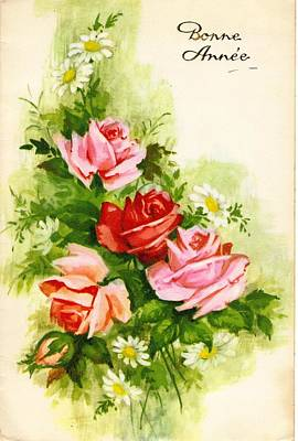 French Floral Art Print