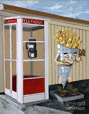 French Fry Guy Art Print by Jennifer  Donald