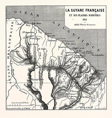 French Guiana, 1855 Art Print by French School